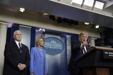 Devo Photo - United States President Donald J Trump speaks next to between US Secretary of Education Betsy DeVos and US Vice President Mike Pence during a press briefing on the Coronavirus COVID-19 pandemic with members of the Coronavirus Task Force at the White House in Washington on March 27 2020 Credit Yuri Gripas  Pool via CNPAdMedia