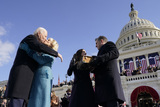 Kiss Photo - President Joe Biden kisses first lady Jill Biden as his son Hunter Biden and daughter Ashley Biden look on after he was sworn-in during the 59th Presidential Inauguration at the US Capitol in Washington Wednesday Jan 20 2021 (AP PhotoAndrew Harnik Pool)AdMedia