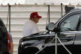 The White Photo - United States President Donald J Trump returns to the White House in Washington DC after playing golf at Trump National Golf Club Washington DC in Sterling Virginia on June 21 2020 Credit Yuri Gripas  Pool via CNPAdMedia