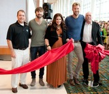 Brian Collins Photo - 06 June 2013 - Nashville Tennessee - Dave Haywood Hillary Scott Charles Kelley Lady Antebellum Steve Moore Brian Collins Lady Antebellum ribbon cutting ceremony for the new ATT U-Verse Fan Fair X at Music City Center during the 2013 CMA Music Festival Photo Credit Ryan PavlovAdMedia