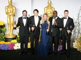 ANTHONY KATAGAS Photo - 02 March 2014 - Hollywood California - Anthony Katagas Jeremy Kleiner Dede Gardner Steve McQueen and Brad Pitt 12 Years A Slave 86th Annual Academy Awards held at the Dolby Theatre at Hollywood  Highland Center Photo Credit AdMedia