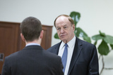 Alabama Photo - United States Senator Richard Shelby (Republican of Alabama) speaks to a member of the media in the Senate Subway following a cloture vote on a Coronavirus Stimulus Package at the United States Capitol in Washington DC US on Monday March 23 2020  Credit Stefani Reynolds  CNPAdMedia