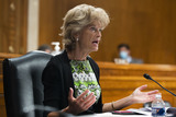 Alaska  Photo - United States Senator Lisa Murkowski (Republican of Alaska) speaks during the US Senate Health Education Labor and Pensions Committee hearing to examine COVID-19 focusing on lessons learned to prepare for the next pandemic on Capitol Hill in Washington DC USA 23 June 2020Credit Michael Reynolds  Pool via CNPAdMedia