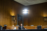 Andrew Wheeler Photo - United States Senator Dan Sullivan (Republican of Alaska) speaks during a US Senate Environment and Public Works Committee hearing with Andrew Wheeler administrator of the Environmental Protection Agency (EPA) not pictured on Capitol Hill in Washington DC US on Wednesday May 20 2020 Credit Al Drago  Pool via CNPAdMedia