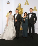Adam Stockhausen Photo - 22 February 2015 - Hollywood California - Felicity Jones Adam Stockhausen Anna Pinnock Chris Pratt 87th Annual Academy Awards presented by the Academy of Motion Picture Arts and Sciences held at the Dolby Theatre Photo Credit AdMedia