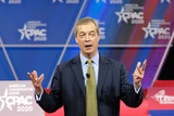 Parliament Photo - Nigel Farage former member of the European Parliament speaks at the Conservative Political Action Conference (CPAC) in National Harbor Maryland US on Friday Feb 28 2020 President Trump will address this years CPAC after dealing with the coronavirus and how the US plans to stop it from spreading Credit Alex Wroblewski   CNPAdMedia