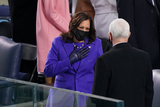 The Ceremonies Photo - Kamala Harris and Vice President Mike Pence spoke before the ceremony Joe Biden is sworn in as the 46th President of the United States on Capitol Hill in Washington DC on January 20 2020 (Erin SchaffThe New York Times NYTINAUGNYTCREDIT Erin SchaffThe New York TimesAdMedia