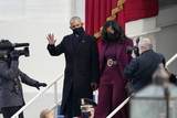 Michelle Obama Photo - Former United States President Barack Obama and Michelle Obama arrive prior to US Joe Biden taking the Oath of Office as the 46th President of the US at the US Capitol in Washington DC on Wednesday January 20 2021  Credit Chris Kleponis  CNPAdMedia