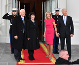 Jill Biden Photo - Vice President Joe Biden (R) and Dr Jill Biden pose with Vice President-elect Mike Pence and wife Karen at the White House before the inauguration on January 20 2017 in Washington DC  Donald Trump becomes the 45th President of the United States Photo Credit Kevin DietschCNPAdMedia