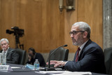 The Faces Photo - Investigative Journalist  Author Lee Smith responds to questions as he appears before a Senate Committee on Homeland Security and Governmental Affairs hearing to examine Congressional oversight in the face of Executive Branch and media suppression focusing on the case study of Crossfire Hurricane in the Dirksen Senate Office Building in Washington DC Thursday December 3 2020 Credit Rod Lamkey  CNPAdMedia