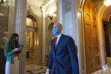 Booker Photo - United States Senator Cory Booker (Democrat of New Jersey) leaves the Senate Floor at the United States Capitol in Washington DC US on Wednesday May 13 2020  Credit Stefani Reynolds  CNPAdMedia