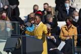 Amanda Gorman Photo - Amanda Gorman National Youth Poet Laureate reads a poem following United States President Joe Biden taking the Oath of Office as the 46th President of the US at the US Capitol in Washington DC on Wednesday January 20 2021  Credit Chris Kleponis  CNPAdMedia