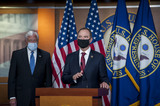 Adam Schiff Photo - United States House Majority Leader Steny Hoyer (Democrat of Maryland) arrives to join US Representative Adam Schiff (Democrat of California) US Representative Eliot Engel (Democrat of New York) and other Democratic House members for a news conference at the US Capitol following a meeting at the White House in Washington DC Tuesday June 30 2020 Photo Credit Rod LamkeyCNPAdMedia