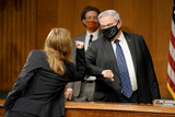 Foreigner Photo - Senate Foreign Relations Committee Chairman Robert Menendez (D-NJ) elbow bumps Samantha Power nominee to be Administrator of the United States Agency for International Development as she arrives for her confirmation hearing before the Senate Foreign Relations Committee Tuesday March 23 2021Credit Greg Nash  Pool via CNPAdMedia
