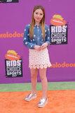 Ella Anderson Photo - 13 July 2017 - Los Angeles California - Ella Anderson Nickelodeon Kids Choice Sports Awards 2017 held at the Pauley Pavilion in Los Angeles Photo Credit Birdie ThompsonAdMedia