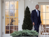President Barack Obama Photo - President Barack Obama leaves the Oval Office for the last time as President in Washington DC on January 20 2017 Later today President-Elect Donald Trump will be sworn-in as the 45th President Photo Credit Kevin DietschCNPAdMedia