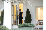 Barack Obama Photo - President Barack Obama is seen in the Oval Office for the last time as President in Washington DC on January 20 2017 Later today President-Elect Donald Trump will be sworn-in as the 45th President Photo Credit Kevin DietschCNPAdMedia