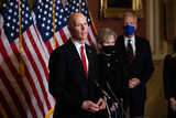 Supremes Photo - Senator Rick Scott R-FL speaks during a press conference after President Trumps Supreme Court nominee Judge Amy Coney Barrett was confirmed by the Senate as the 115th justice to the Supreme Court on Capitol Hill Monday October 26th 2020AdMedia