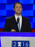 President Jimmy Carter Photo - State Senator Jason Carter (Democrat of Georgia) grandson of former United States President Jimmy Carter makes remarks during the second session of the 2016 Democratic National Convention at the Wells Fargo Center in Philadelphia Pennsylvania on Tuesday July 26 2016 Photo Credit Ron SachsCNPAdMedia
