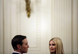 Benjamin Netanyahu Photo - White House Adviser Jared Kushner and Senior Adviser to President Trump Ivanka Trump attend a meeting with United States President Donald J Trump and Israels Prime Minister Benjamin Netanyahu in the East Room of the White House in Washington DCon Tuesday January 28 2020 Credit Joshua Lott  CNPAdMedia