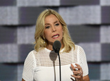 911 Photo - Lauren Manning who spent more than 6 months in the hospital after 911 recovering from severe burns makes remarks during the second session of the 2016 Democratic National Convention at the Wells Fargo Center in Philadelphia Pennsylvania on Tuesday July 26 2016 Photo Credit Ron SachsCNPAdMedia