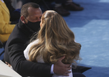 Alex Rodriguez Photo - Singer Jennifer Lopez and Alex Rodriguez embrace during the inauguration of Joe Biden as the 46th President of the United States on the West Front of the US Capitol in Washington US January 20 2021 REUTERSJonathan ErnstPoolAdMedia
