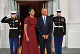 President Barack Obama Photo - President Barack Obama (R) and Michelle Obama wait for President-elect Donald Trump and wife Melania at the White House before the inauguration on January 20 2017 in Washington DC  Trump becomes the 45th President of the United States Photo Credit Kevin DietschCNPAdMedia