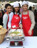 Fivel Stewart Photo - 22 April 2011 - Los Angeles California - Fivel Stewart (L) Zoe Saldana and Booboo Stewart Los Angeles Mission Easter For The Homeless Held At The Los Angeles Mission Photo Kevan BrooksAdMedia