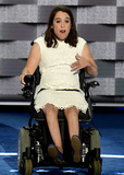 Anastasia Somoza Photo - Anastasia Somoza of New York NY along with her twin sister was diagnosed with cerebral palsy and spastic quadriplegia when she was born and is an advocate for Americans with intellectual and developmental disabilities makes remarks at the 2016 Democratic National Convention at the Wells Fargo Center in Philadelphia Pennsylvania on Monday July 25 2016 Photo Credit Ron SachsCNPAdMedia