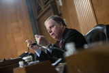 Alabama Photo - United States Senator Doug Jones (Democrat of Alabama) speaks as Judy Shelton and Dr Christopher Waller nominees to be on the Board of Governors of the Federal Reserve System testify before the US Senate Committee on Banking Housing and Urban Affairs at the United States Capitol in Washington DC US on Thursday February 13 2020Credit Stefani Reynolds  CNPAdMedia