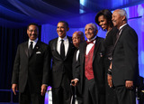 Barack Obama Photo - From left to right Congressional Black Caucus (CBC) Chairman United States Representative Emanuel Cleaver II (Democrat of Missouri) US President Barack Obama  US Representative John Lewis (Democrat of Georgia) Reverend Joseph Lowery First Lady Michelle Obama CBC Foundation Chairman US Representative Donald Payne (Democrat of New Jersey) stand for a photo at the conclusion of the Congressional Black Caucus Foundation Annual Phoenix Awards dinner in Washington DC September 24 2011 Credit Chris Kleponis  Pool via CNPAdMedia