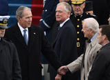 Jimmy Carter Photo - Former President George W Bush grabs the hand of former President Jimmy Carter during the Inauguration Ceremony of President Donald Trump on the West Front of the US Capitol on January 20 2017 in Washington DC  Trump became the 45th President of the United States Photo Credit Pat BenicCNPAdMedia