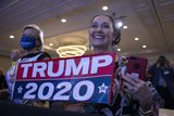 RITZ CARLTON Photo - Guests cheer as United States President Donald J Trump arrives to speak at the 2020 Council for National Policy Meeting at the Ritz Carlton in Arlington VA on Thursday August 20 2020  Credit Tasos Katopodis  Pool via CNPAdMedia