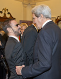 The Eagles Photo - United States Secretary of State John Kerry speaks with Ringo Starr left following a dinner hosted by United States Secretary of State John F Kerry in their honor at the US Department of State in Washington DC on Saturday December 3 2016  The 2016 honorees are Argentine pianist Martha Argerich rock band the Eagles screen and stage actor Al Pacino gospel and blues singer Mavis Staples and musician James TaylorCredit Ron Sachs  Pool via CNPAdMedia