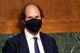 Foreigner Photo - Cass Sunstein husband of Samantha Power nominee to be Administrator of the United States Agency for International Development is seen during her confirmation hearing before the Senate Foreign Relations Committee Tuesday March 23 2021Credit Greg Nash  Pool via CNPAdMedia