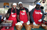 Aldis Hodge Photo - 22 December 2017 - Los Angeles California - Edwin Hodge Aldis Hodge Catfish Jean 2017 Los Angeles Mission Christmas Meal for the Homeless Photo Credit F SadouAdMedia