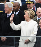 Bill Clinton Photo - Former President Bill Clinton (L) and Hillary Clinton greet guests at inauguration on January 20 2017 in Washington DC  Donald Trump becomes the 45th President of the United States Photo Credit Pat BenicCNPAdMedia
