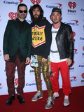 Jared Leto Photo - 22 September 2017 - Las Vegas NV -  30 Seconds to Mars Tomo Milicevic Jared Leto Shannon Leto 2017 iHeartRadio Music Festival at the T-Mobile Arena Photo Credit MJTAdMedia