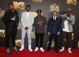 Aldis Hodges Photo - 09 April 2016 - Burbank California - OShea Jackson Jr Corey Hawkins recording artist Common actors Neil Brown Jr and Aldis Hodge 2016 MTV Movie Awards held at Warner Bros Studios Photo Credit SammiAdMedia
