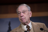 Chuck Grassley Photo - United States Senator Chuck Grassley (Republican of Iowa) delivers remarks on USMCA alongside United States Senator John Barrasso (Republican of Wyoming) United States Senator Roger Wicker (Republican of Mississippi) and United States Senator Jim Risch (Republican of Idaho) during a press conference on Capitol Hill in Washington DC US on Thursday January 9 2020  Credit Stefani Reynolds  CNPAdMedia