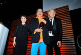 Tomson Highway Photo - 23 October 2014 - Hamilton Ontario Canada  Playwright Tomson Highway (with Susan Aglukark and Matt Sorum) receives the Arts and Culture award at the 10th Annual Dreamcatcher Gala held at the Hamilton Convention Centre by Carmens Photo Credit Brent PerniacAdMedia