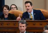 Alabama Photo - United States Representative Matt Gaetz (Republican of Florida) upper right questions a panel of constitutional experts during a US House Judiciary Committee hearing on the impeachment of US President Donald Trump on Capitol Hill in Washington DC December 4 2019  Looking on at upper left is US Representative Martha Roby (Republican of Alabama)Credit Saul Loeb  Pool via CNPAdMedia