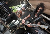 Jake Pitts Photo - 20 July 2011 - Cleveland OH - Bassist ASHLEY PURDY and guitarist JAKE PITTS of the band BLACK VEIL BRIDES performs on a stop of the Vans Warped Tour 2011 held at the Blossom Music Center  Photo Credit Jason L NelsonAdMedia