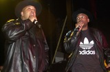 Queen Photo -  RUN DMC at the Swatch Wave Tour surf competition and rock concert at the Queen Mary in Long Beach 02-02-00