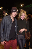 Ashley Scott Photo -  Aston Kutcher and Ashley Scott at the premiere of Twentieth Century Foxs FROM HELL at Manns Village Theater in Westwood 10-17-01