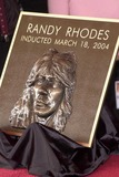 Randy Rhoads Photo - Randy Rhoads misspelled plaque at the ceremony posthumously inducting guitarist Randy Rhodes into Hollywoods Rockwalk on Sunset Boulevard Hollywood CA 03-18-04