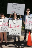Casey Kasem Photo - Terri Thomas Jason Thomas Gordon Jesse Koveat a protest involving Casey Kasems children brother and friends who want to see him but have been denied any contact  Private Location Holmby Hills CA 10-01-13