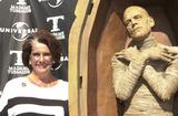 Sara Karloff Photo -  SARA KARLOFF (BORIS KARLOFFS DAUGHTER) at the unveiling of Madame Tussauds lifelike wax portraits of Dracula Frankensteins Monster and The Mummy Universal Studios 10-10-01
