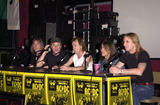 Angus Young Photo -  Cliff Williams Brian Johnson Angus Young Malcolm Young Phil Rudd at the ceremony where they were inducted into Sunset Blvds Rockwalk 09-15-00