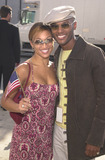 911 Photo -  CHANTE MOORE and KENNY LATIMORE at the celebrity recording of We Are Family to benefit the victims of New Yorks 9-11 tragedy 09-23-01